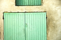 Green Shutters and Doors